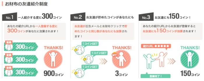 お財布com友達紹介制度