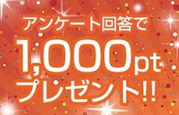 アンケート回答で100円GET