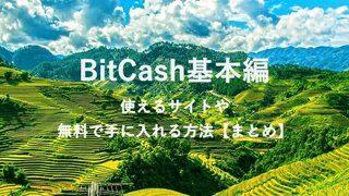 bitcashを無料で貯める