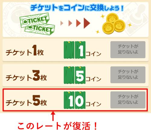 お財布コムチケットレート復活
