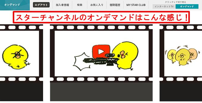 スターチャンネルオンデマンド